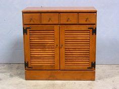 Ethan Allen By Baumritter Custom Room Plan Crp Maple 14 Shutter Base Cabinet Ann Alley Early American Furniture