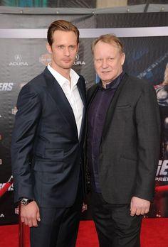 Alexander & Stellan Skarsgard at the premiere of The Avengers in Los Angeles, California on April 11, 2012