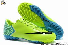 Wholesale Cheap Fluorescent yellow black Nike Mercurial Vapor X TF