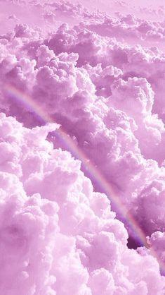 Rainbow in the clouds – Rhiz Keiren Arauban – – Regenbogen in den Wolken – Rhiz Keiren Arauban – … – Purple Wallpaper Iphone, Cloud Wallpaper, Rainbow Wallpaper, Iphone Background Wallpaper, Tumblr Wallpaper, Wallpaper Quotes, Wallpaper Art, Pink Iphone, Pink And Purple Wallpaper