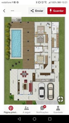 Ideas exterior apartment design layout for 2019 Layouts Casa, House Layouts, Bedroom Floor Plans, House Floor Plans, Modern House Plans, Small House Plans, Bungalow House Design, Exterior House Colors, Exterior Design