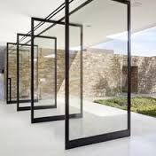 Image result for frameless pivot glass front door