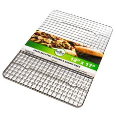 Oven Safe, Heavy Duty Stainless Steel Baking Rack and Cooling Rack, 12 x 17 inches Fits Half Sheet Pan => Details can be found at : Baking Accessories