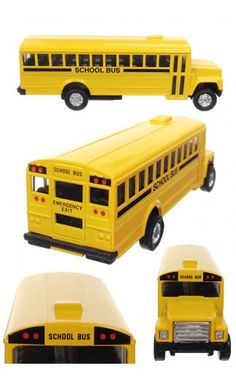 Retro Yellow School Bus 1970s | TinToyArcade | 085761932685