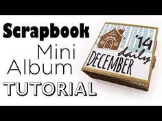 ▶ [Scrapbook Mini-Album Tutorial] December Daily Art Journal   Für Video-Aktion von Danipeuss.de - YouTube
