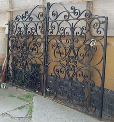 old iron gate - i'd like to use this for a gate in my house! I bet an old salvage yard would have some old scrap gates!