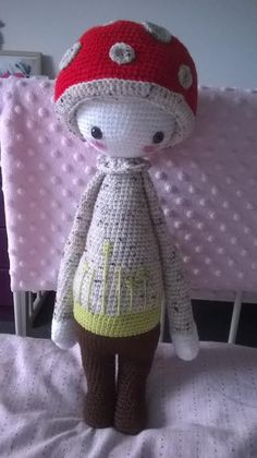 PAUL the toadstool made by Mandy K. / crochet pattern by lalylala