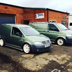 @dale_bufton Has A Beautiful Fleet #ModifiedVans #VolksWagen #VW #VeeDub #VDUB #Caddy #Caddy2K #Transporter #T5 #LowDownTransporters GO FOLLOW @dale_bufton by modifiedvans