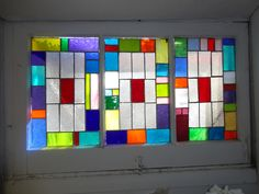 stained glass window Stained Glass Panels, Leaded Glass, Mosaic Glass, Glass Art, Stained Glass Crafts, Bathroom Windows, Through The Looking Glass, Window Design, Artsy Fartsy