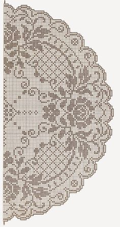 This Pin was discovered by Tat Filet Crochet Charts, Crochet Doily Patterns, Thread Crochet, Crochet Doilies, Crochet Stitches, Crochet Table Runner, Crochet Tablecloth, Crochet Round, Crochet Home