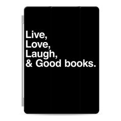 Live Love Laugh and Good Books - for iPad - iPad Cover / Case (£38) ❤ liked on Polyvore featuring accessories, tech accessories, ipad cover / case, apple ipad case, ipad cover case, apple ipad cover case, ipad sleeve case and ipad cases