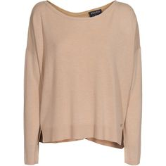 WOOLRICH Viscosa Cash Beige Cashmere blend sweater ($140) ❤ liked on Polyvore featuring tops, sweaters, shirts, jumpers, oversized sweaters, shirt sweater, bohemian tops, over sized sweaters y woolrich. sweaters