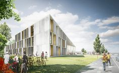 , Herningsholm Vocational School, Built by C.F. Møller Architects in Herning, Denmark C.F. Møller Architectshavewon in an invited competition to design a new building for the Herningsholm Vocational Sc...