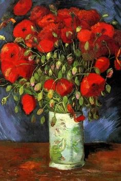 Vincent van Gogh Vase with Red Poppies Poster by Vincent van Gogh at AllPosters.com