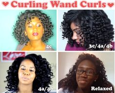 Valentine's Day Curls – Curling Wand On 4 Hair Textures http://www.blackhairinformation.com/general-articles/valentines-day-curls-curling-wand-4-hair-textures/