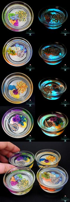 Glow in the Dark Reef Glass Cups by Bon-AppetEats.deviantart.com on @deviantART,