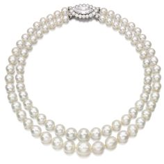 Natural pearl and diamond necklace | Lot | Sotheby's 13.95mm, on a clasp set with a marquise-shaped diamond weighing 4.39 carats, framed with brilliant-cut diamonds, clasp signed Cartier, French assay and maker's marks, case stamped Cartier.