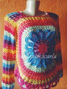 Lançamento!!   Vamos colorir este verão!!   A Blusa Happy em crochê é uma ótima opção.   Esta já está colorindo por aí....