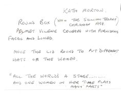 In her own words....notes on the box by Kath Morton