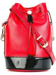 KENZO 'Bike' Bucket Shoulder Bag. #kenzo #bags #shoulder bags #leather #pvc #bucket #