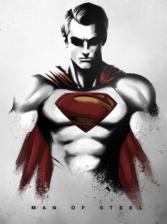 "fan art for the move ""Man of Steel"" by Nimesh Niyomal"