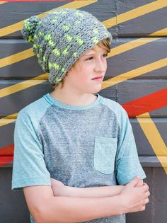 Finger knit beanie from Finger Knitting Fun, by Vickie Howell  Photography by @coryryan