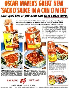 sack o sauce in a can o meat sure its delish sack o s**t