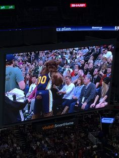 Derek at the Jazz game with his family ❤️
