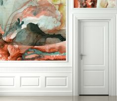 Black Crow Studios Watercolor Wallpaper. Absolutely gorgeous designs, probably the only wallpaper I have ever liked...