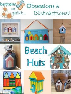 buttons and paint...:  Beach Hut Crafts  #beachy #crafts
