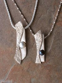Margie Magnuson - silver metal clay necklaces