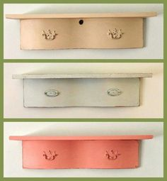 Shelves made from old drawer fronts Upcycling projects to justify o