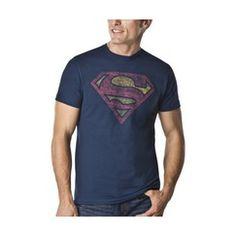 Men's Superman Shield Graphic Tee - Navy