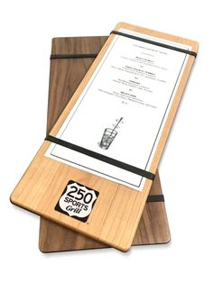 Wood Menu Plank with Screen Printing More