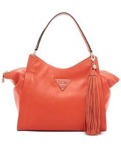 7198990240de Guess VS620908 Thompson Satchel Purse Handbag Coral MSRP  128.00 NWT  GUESS   ShoulderBag Satchel Purse