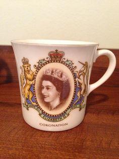 England's Queen Elizabeth II Royal Family 1953 Coronation Commemorative Mug