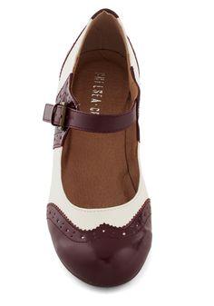 Fancy a Fox Trot Heel In Bordeaux | Mod Retro Vintage Heels | ModCloth.com
