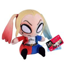 This is a DC Comics Suicide Squad Mopeez Harley Quinn Plush Figure Figure from Funko. The Harley Quinn plushie figure is from Funko's line of figures called Mop