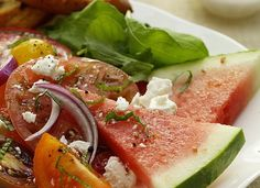 Change up your salad. This one is fruity with a subtle hint of mint and layer of savory Feta.