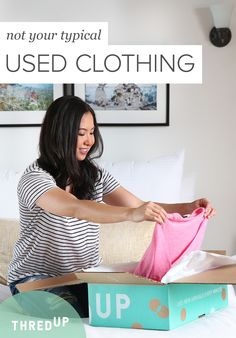 """""""The interesting part about shopping secondhand is that it is influencing my habits and it goes beyond fashion and shopping. It changes the way I think about money and value, but the biggest win is the time that I can instead spend on family & friends."""" - Claris T, happy thredUP shopper. Sign up at thredUP.com and shop #secondhandfirst."""