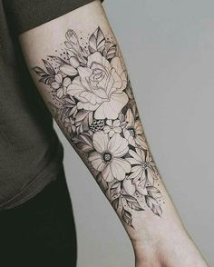 Nice floral arrangement sunflower tattoos, forearm flower tattoo, flower tattoo on forearm, small Tattoo Girls, Mom Tattoos, Trendy Tattoos, Black Tattoos, Body Art Tattoos, Tattoos For Guys, Tribal Tattoos, Tatoos, Floral Tattoos