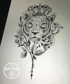 New nature tattoo sleeve animals life Ideas Leo Tattoos, Baby Tattoos, Badass Tattoos, Couple Tattoos, Rose Tattoos, Animal Tattoos, Body Art Tattoos, Girl Tattoos, Tatoos