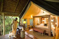 Following your morning game drive and breakfast, transfer by road to Ngala tented safari camp in the Southern part of the reserve for a 2-night stay.  This is the perfect change of scenery and a most magnificent camp to end your safari experience.