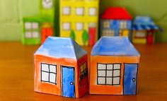 Pop-up Paper House Small - Art And Craft - Free Printables - Paper House Printable