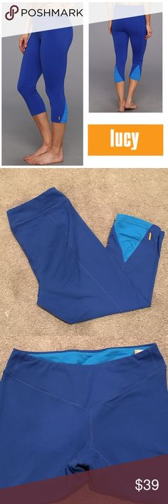 Lucy Uplifting Capri Preowned worn a few times overall very good condition except for pilling in crotch areareasonable offers considered through offer button Lucy Pants Capris
