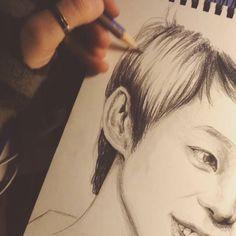 Park Yoochun portrait by Büşra Akbulut -in progress  http://instagram.com/birendibadesi/