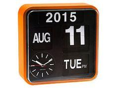 Orange Wall Flip Clock