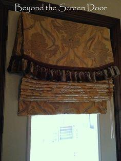 Master Bedroom Velvet & Damask Window Treatments | Beyond the Screen Door