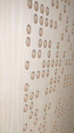 #RAW RPG BAD Expo Oak #acoustics #wood #oak #pattern #design #holes
