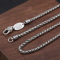 Men's Sterling Silver Six True Words Mantra Braided Chain - Jewelry1000.com Silver Chain For Men, Chains For Men, Silver Man, Silver Chains, Eagle Ring, Silver Dragon, True Words, Mantra, Sterling Silver